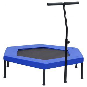 Trampolin za vježbanje s ručkom i sigurnosnim jastučićem 122 cm