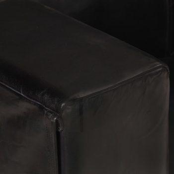 Trosjed od prave kože crni