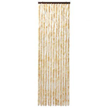 Zastor protiv insekata bež 120 x 220 cm šenil