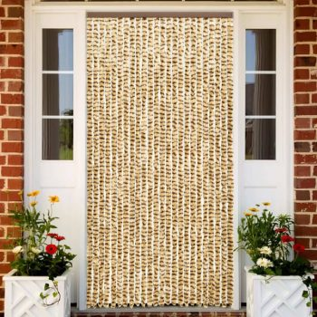 Zastor protiv insekata bež-smeđi 100 x 220 cm šenil