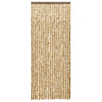 Zastor protiv insekata bež-smeđi 56 x 185 cm šenil