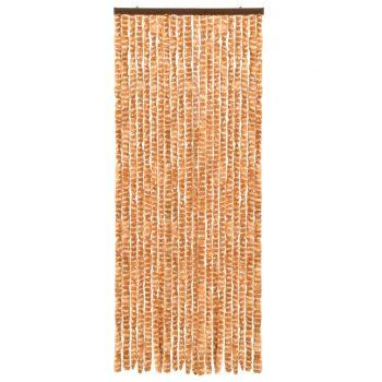 Zastor protiv insekata oker-bijeli 56 x 185 cm šenil