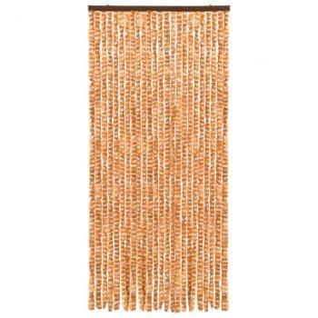 Zastor protiv insekata oker-bijeli 90 x 220 cm šenil