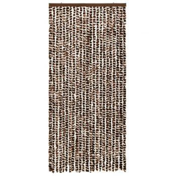 Zastor protiv insekata smeđe-bijeli 90 x 220 cm šenil