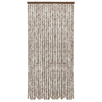 Zastor protiv insekata smeđe-sivi i bijeli 100 x 220 cm šenil