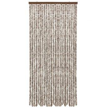 Zastor protiv insekata smeđe-sivi i bijeli 90 x 220 cm šenil
