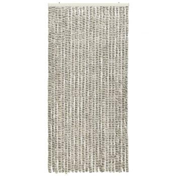 Zastor protiv insekata svjetlosivi/tamnosivi 100 x 220 cm šenil