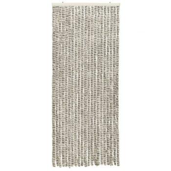 Zastor protiv insekata svjetlosivi/tamnosivi 56 x 185 cm šenil