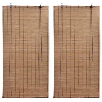 Rolete od bambusa 2 kom 150 x 220 cm smeđe
