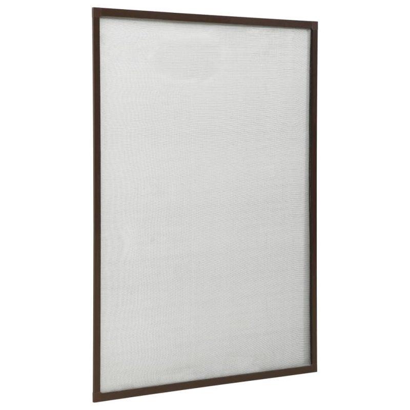 Zaslon protiv insekata za prozore smeđi 80 x 120 cm